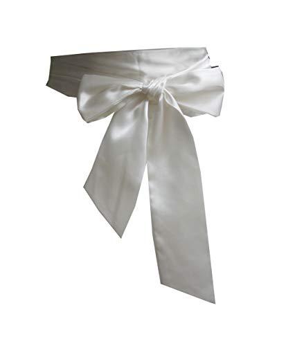 Wedding satin sash belt for special occasion dress bridal sash (Ivory)