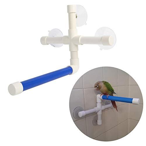 KAN-X Parrot Folding Bath Shower Standing Platm Wall Suction Cup Pet Toy C42, Bird Perch Cups - Bird Perches in Bird Cages, Folding Wall Rack, Parrot Cup in Pet Supplies, Shower Perch for Bird by KAN-X