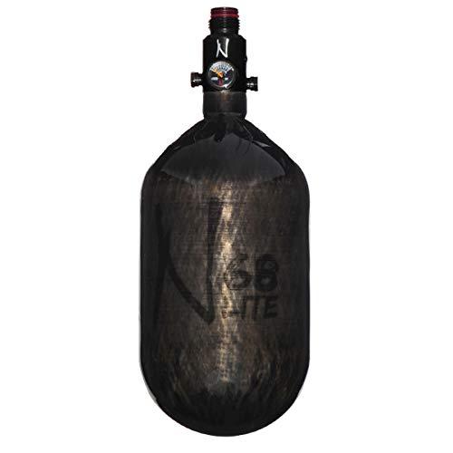 Ninja Carbon Fiber HPA Tank - 68/4500 LITE - Adjustable Reg - Translucent Black