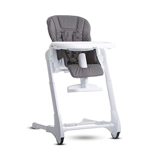 Joovy Foodoo High Chair, Reclinable Seat, Adjustable Footrest, 8 Height Positions, Charcoal