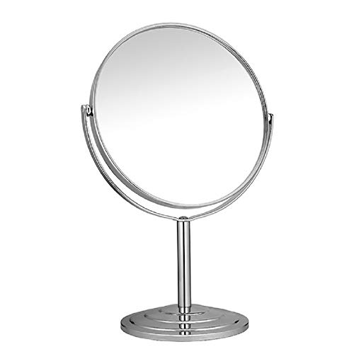TBBSC 6-Inch Tabletop Two-Sided Swivel Vanity Makeup Mirror with 3x Magnification