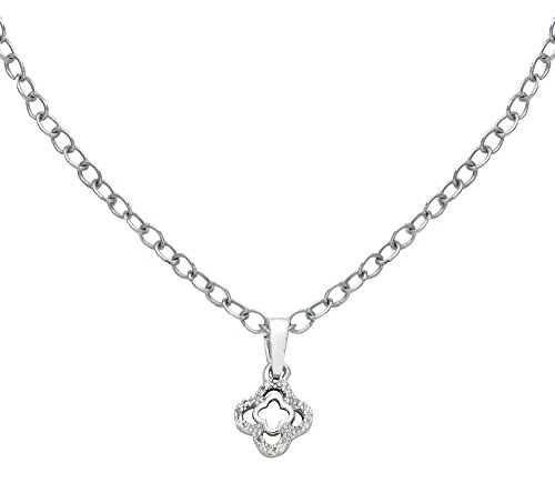 Or Blanc 14 ct Pendentifs Diamant , 0.02 Ct Diamant, GH-SI, 0.66 grammes.