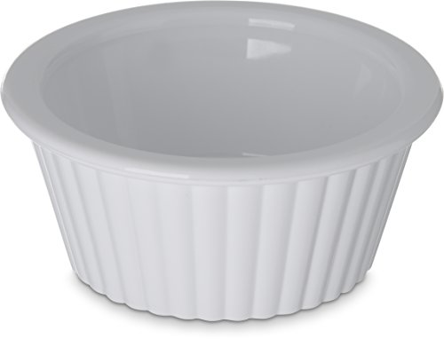 - Carlisle 084302 SAN Fluted Ramekin, 1 oz Capacity, White (Case of 48)