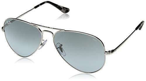 Ray-Ban RB3689 Aviator Evolve Photochromic Sunglasses, Silver/Photochromic Blue Gradient, 58 ()