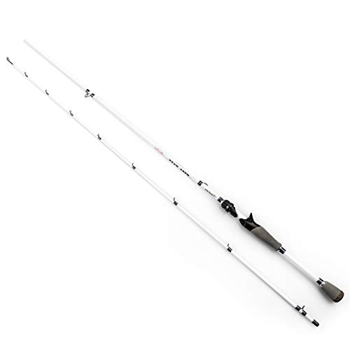 Akataka Spinning Casting Fishing Rod-Mega Wave Series 2pcs Bass Fishing Pole Collapsible Portable for Freshwater Saltwater Travel Boat Fishing (Casting-7'1
