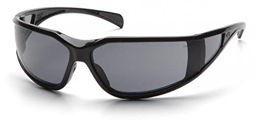 Pyramex SB5120DT Exeter Safety Glasses Black Frame w/Gry Anti-Fog Lens (12 Pair) (Exeter Safety Pyramex Glasses)