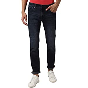 Peter England Men's Tapered Fit Skinny Jeans