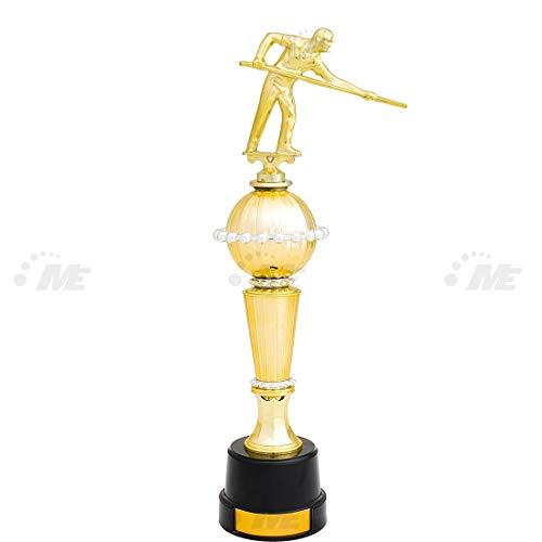 AX Esportes Troféu Bilhar 3º Colocado 436/4 30cm, Dourado
