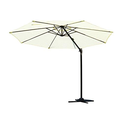 Outsunny 10' Classic Outdoor Patio Market Umbrella - Cream White/Brown