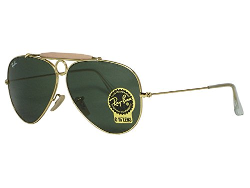 Ray Ban RB3138 shooter 001 Gold Sunglasses - Ray Rb3138 Ban
