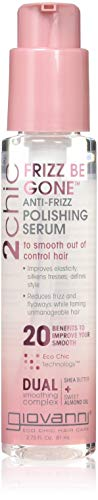 Giovanni 2chic Frizz Be Gone Shea Butter & Sweet Almond Oil Polishing Serum, 2.75 Ounce