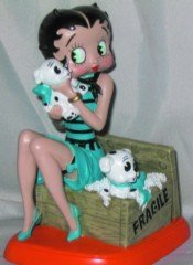 Precious Kids 35005 4.5 Betty Boop Resin Figure with pudgies