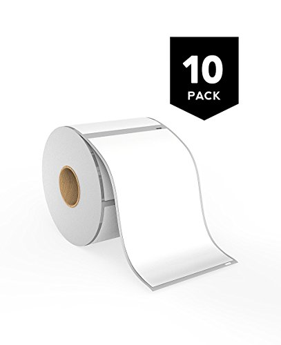 [10 Rolls] Dymo 30256 Compatible Thermal Shipping Labels - LW Shipping Labels 2 5/16'' x 4'' Premium Ultra Strong Adhesive, Water Resistant, Jam Free, Perforated, 300 Labels per Roll by Bayon Products