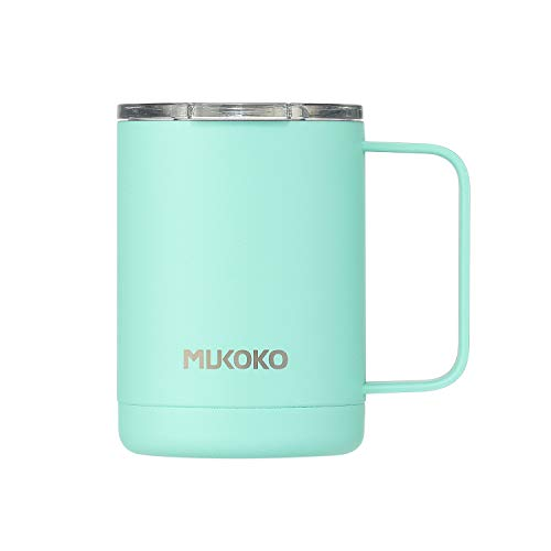 - Coffee Mug 16oz Vacuum Insulated Camping Mug with Lid, Double Wall Stainless Steel Travel Mug Coffee Cup Outdoor(14oz After Lid is Closed) Bule
