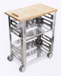 Graepel High Tech P.U.B. Kitchen Trolley aus Edelstahl mit ... | {Küchenwagen edelstahl 18}