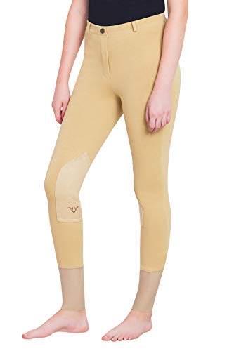 TuffRider Women's Starter Lowrise Pull-On Breech, Light Tan, 26