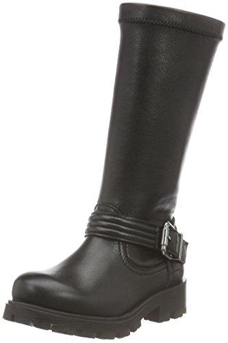 Unisa Mädchen Pipos_ri_stn Biker Boots Schwarz (Black)