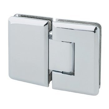 MONT HARD 180 Degree Glass to Glass Shower Hinge with Bevelled Edge in Polished Chrome Finish. Fits 3/8 inch to 1/2 inch thick Tempered Glass Shower doors. Maximum Load 40 lbs per hinge.
