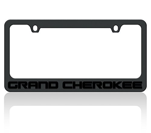 Eurosport Daytona- Compatible with - Jeep Grand Cherokee Black Word Black License Plate Frame (Jeep Grand Cherokee Frame)
