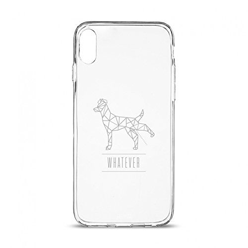 Artwizz NoCase Design Schutzhülle für iPhone X - Ultra-dünne Hülle aus elastischem TPU - limitierte Designedition mit stylischen Polygon-Motiv - iPhone 10 Case designed in Berlin - P-Dog - 6274-2168