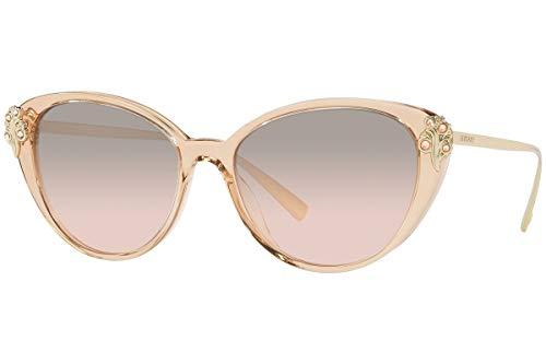 Versace VE4351B Sunglasses Transparent Brown w/Light Brown Mirror Silver Gradient Lens 55mm 52158Z VE4351-B VE 4351B VE ()