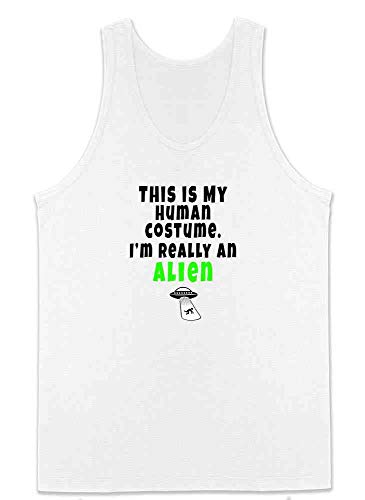 This is My Human Costume I'm Really an Alien White S Mens Tank Top]()