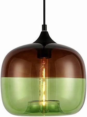 JEUNEU Modern Glass Pendant Ceiling Lights Kitchen Island Sink Restaurant Bar Living Room Bedroom Hanging Lamp Lighting Fixtures Amber Green