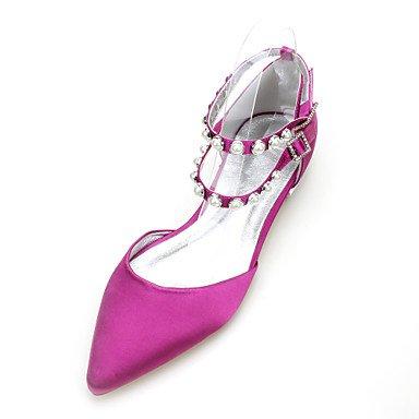 RTRY Las Mujeres'S Wedding Shoes Maryd'Orsay &Amp; Dos Piezas De Satén Confort Primavera Verano Boda Vestido De Noche &Amp; Rhinestone Heelivory Plana US9 / EU40 / UK7 / CN41