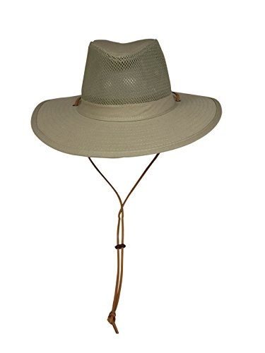 Unisex Safari Sun Bucket Hat with A Montana Crease and Breathable Mesh  Crown - Dawstring - 74ffb410cce0