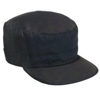 Black Fatigue (ROTHCO ADJUSTABLE FATIGUE CAP - Black)
