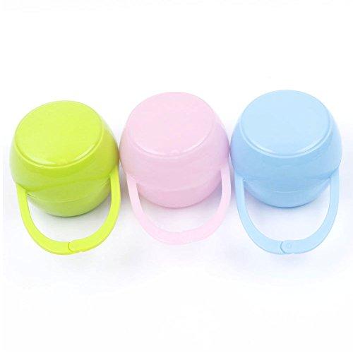 UTENEW Pacifier Cases Holder Nipple Shield Box Set of 3, Handy in Diaper Bag, Nursery Bedding Gift (Toy 3 Piece Cradle Bedding)