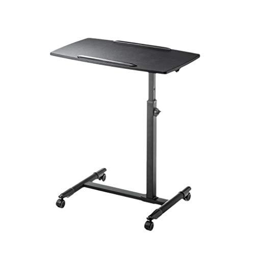 Price comparison product image NBgy Folding Computer Desk,  Computer Desk Medical Table,  Mobile Computer Desk,  Desk Rolling Cart,  Laptop Stand,  Lifting Computer Desk,  3 Colors,  4070(70-88) cm (Color : Black)