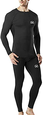 MEETYOO Thermal Underwear Set for Men, Winter Long Johns Base Layer, Sport Compression Suit for Skiing Running