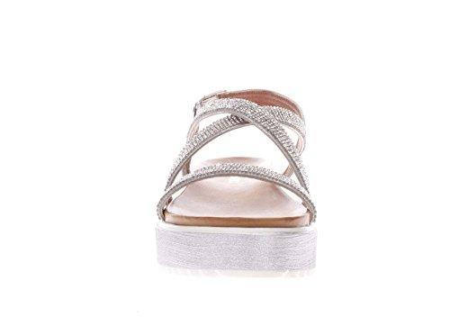 Cinturino Strass CafèNoir Platform Sandali argento Donna grgio GH911 Noir Incrocio Argento Cafè 8qz7w8Ur