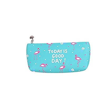 Amazon.com : 2018 Kawaii Pencil Case Flamingo Leather School ...