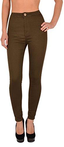 Pantalon Jean Femmes surdimensionner Femme tex Skinny by Slim Femme Z92 Z146 Taille Haute Jeans khaki 1qfg8wwx