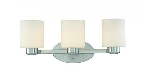 Dolan Designs 3 Light (Dolan Designs 3433-09 Brookings 3 Light Bathroom Fixture, Satin Nickel)