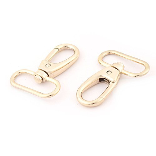 DealMux Zinc Alloy Bag Belting Pets Dog Chain Connector Swivel Trigger Lobster Clasp Hook Buckle 2 Pcs Gold Tone