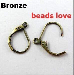 Hook Lock Pick (Laliva Pick 4 Colors 100pcs Ear Wire Hooks Stopper Clips&Locks/Earring Posts W/Stoppers 16x11mm Nickel Free(w02910) - (Color: Brown))
