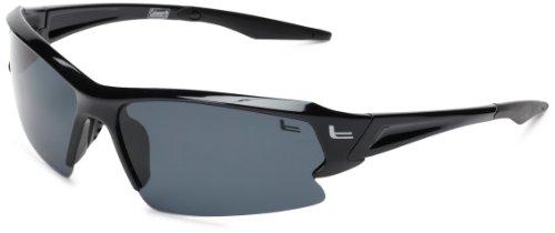 Coleman Streamliner Polarized Shield Sunglasses,Shiny Black,139 - Coleman Sunglasses