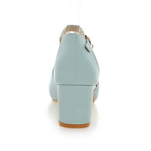 BalaMasa Womens Dress Cold Lining Solid Urethane Sandals ASL05187 Blue XtL02