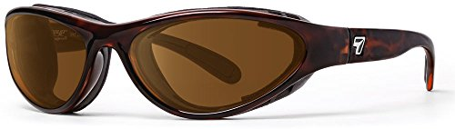 - 7eye by Panoptx | Viento | Wind Blocking Sunglasses - Polarized Copper Lenses + Perferct for Motorcycle Riding, Cycling, Dry Eyes, Fishing, Outdoor Sports