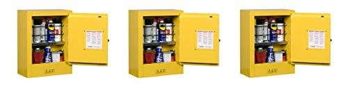 (Justrite 890200 Sure-Grip EX Galvanized Steel 1 Door Manual Flammables Mini Safety Storage Cabinet, 17