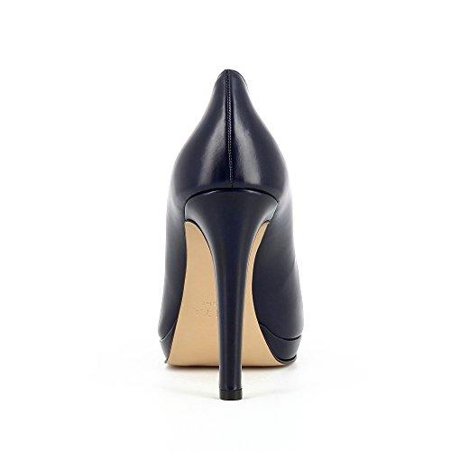 Cristina Décolleté Evita Scuro Leather Donna Blu Smooth Scarpe 45qwxCPBB