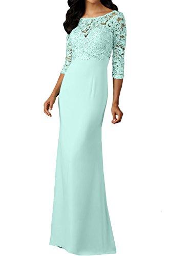 3 Spitzenkleider Promkleid Damen 4 Arm lang Rundkragen Abendkleider Sage Ballkleid Festkleid Ivydressing BI5wqq