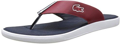 70699665c3 Lacoste L.30 117 1 Cam DK Red, Tongs Homme: Amazon.fr: Chaussures et Sacs