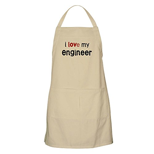 CafePress - I Love My Engineer BBQ Apron - Kitchen Apron with Pockets, Grilling Apron, Baking (Engineer Bbq Funny Apron)