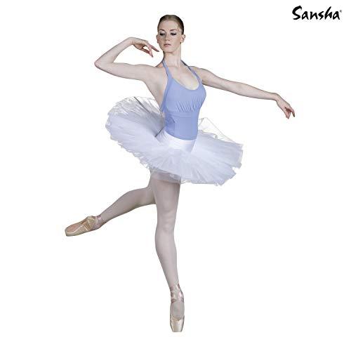 (Sansha DF005 PAQUITA SEMI-Professional Tutu,White,Large,)