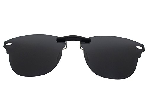 Custom Fit Polarized CLIP-ON Sunglasses For Ray-Ban RB5154 51X21 Black (Ray Ban Clip On Sunglasses)