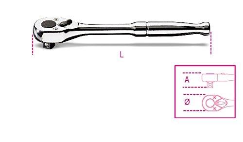 Beta 9000905 900 m/55-1/4-inch organismo. Trinquete manija del Metal